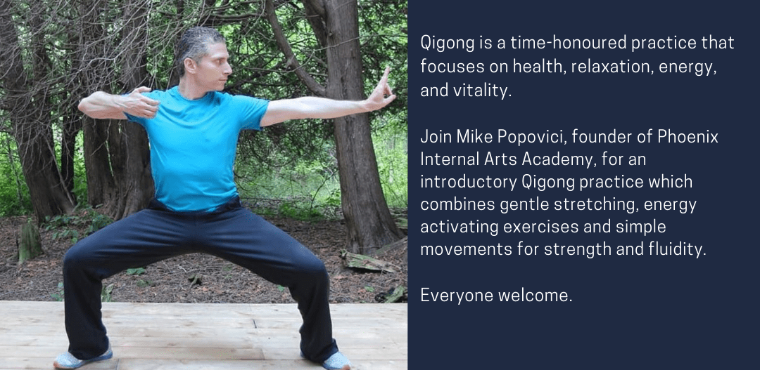 Qi Gong in the park, Chi Gong, vitality, doing the bow or archer pose of the eight brocade form